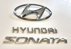 2006 2007 2008 2009 2010 Hyundai Sonata Rear Trunk Lid Emblem Badge Set Oem