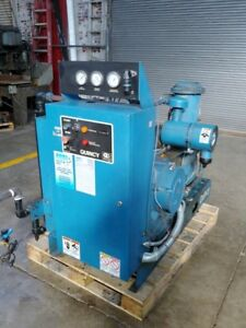 Quincy Qsb 50 50 Hp Screw Air Compressor 206 Cfm 12 Psi Air Cooled