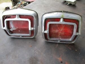 65 Plymouth Belvedere Ii Satellite Tail Lights Left Right W Housings Oem Set