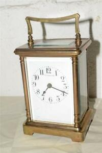 Antique Tiffany Co Mechanical French Made Carriage Clock Brass France