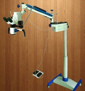 Neurosurgical 3 Step Magnification Microscope til Ting Binocular Head