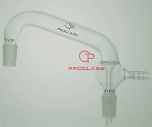 Proglass Adapter vacuum Distilling joints 14 20 hose O d 8 Mm