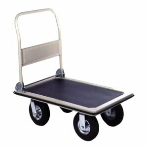 Wesco Industrial 272235 Platform Truck Large With 8 In Steel Folding Handle