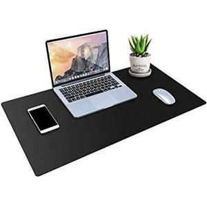 Desk Pad Protector Pu Leather Mat Blotters Black Laptop For Office home 36 X