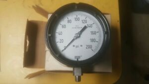 Process Pressure Gauge 4 1 2 Face 0 200 Psi 1 2 Npt