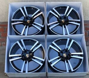 20 Porsche Panamera Turbo S Black Wheels Rims Oem Factory Genuine 20