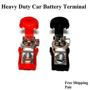 2pcs Heavy Duty Car Battery Therminal Connector Clip Connector Clamp Boat Marine