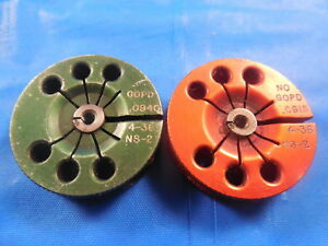 4 36 Ns 2 Thread Ring Gages 4 112 Go No Go P d s 0940 0915 Tool 4 36