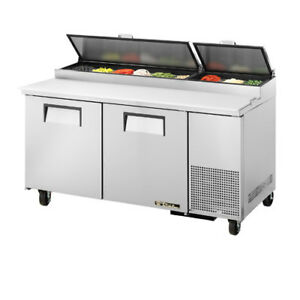True Tpp 67 Pizza Prep Table For 9 Pans Two Door 67 w
