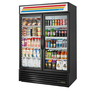 True Gdm 49 ld Display Refrigerator 2 Door 49 Cu Ft Black