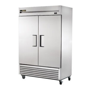 True Ts 49f Stainless Reach in Freezer 2 Door 49 Cu Ft