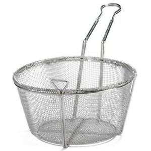 Central Restaurant Fbrs 9 Fry Basket Round Wire 9 1 2 Diameter Fine Mesh