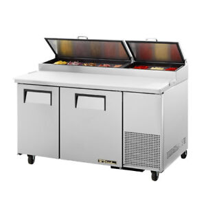 True Tpp 60 Pizza Prep Table For 8 Pans Two Door 60 w