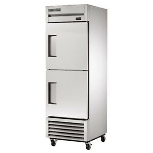 True T 23f2 Reach in Freezer 2 Stainless Half Door 23 Cu Ft Left Hinged