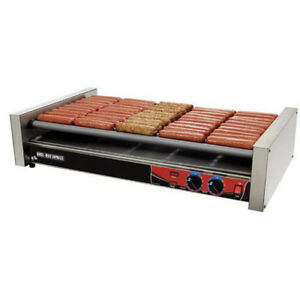 Star X30 Hot Dog Grill Chrome Rollers 30 Dog Capacity 23 3 4 w
