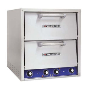 Bakers Pride P44 bl Countertop Electric Pizza Oven 2 Deck Brick Lined Hearth