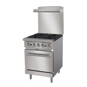 Central Restaurant Cr4 n 24 4 Burner Natural Gas Range