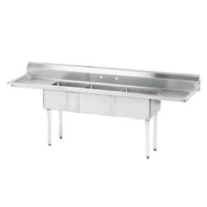 Value Series 3 Compartment Sink 2 18 Drainboards