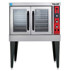 Vulcan Vc4ed Single Stack Convection Oven Standard Depth With Legs 208v