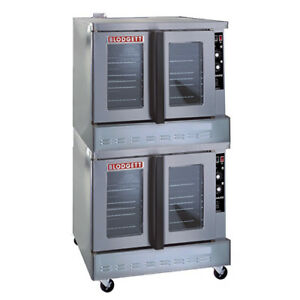 Blodgett Zephaire 100 g Double Stack Nat Gas Convection Oven Standard Depth
