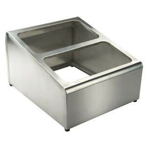 Stainless Steel Condiment Packet Holder 2 Compartments