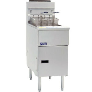 Pitco Sg14s Commercial Natural Gas Fryer 50 Lb