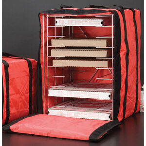 American Metalcraft Deluxe Pizza Delivery Bag With Rack Holds 10 16 Pizzas