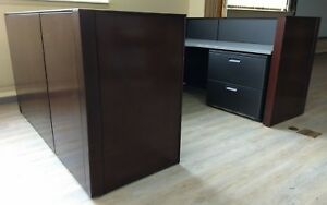 Herman Miller Cubicles Office Systems Workstation Furniture Reception Wood