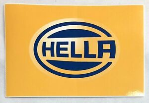 Authentic Hella Lights Lighting Sticker Decal Racing Hot Rods Off Road