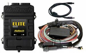 Haltech Ht 151204 Elite 2000 Ecu 2 5m 8 Ft Premium Universal Wire in Harness
