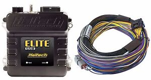 Haltech Ht 150402 Elite 550 Ecu 2 5m 8 Ft Basic Universal Wire in Harness Kit