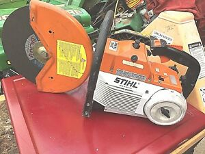 Stihl Ts460 Gas Powered Concrete Cut off Saw In Good Cond 150psi Compression