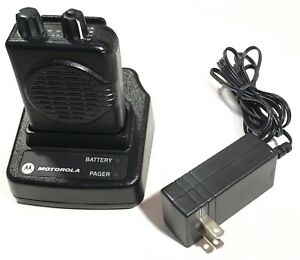 Motorola Minitor V 5 Pager Charger And Base Included Fire Ems Police