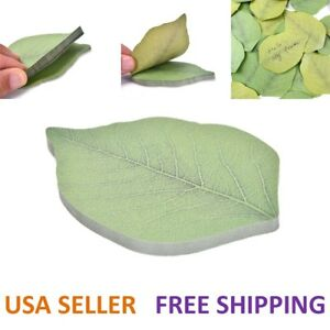 Cute Leaf Sticky Notes Memo Pad Self adhesive Sticky Notes Bookmark Stationery