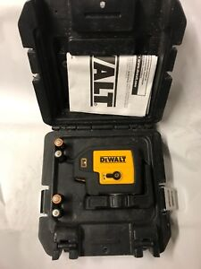 Dewalt Dw085 Dw 086 5 Beam Laser Pointer Case Battery Operated Free Shipping