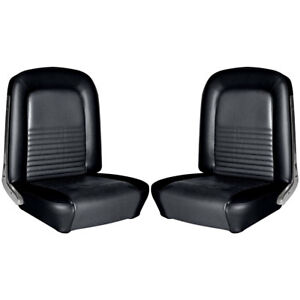 Tmi 43 72227 958 Mustang Premium Upholstery Full Set With Front Buckets Black St