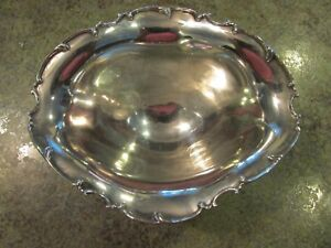 Beautiful Footed Ruffled Sterling Silver Bowl Hallmark 87s 112g