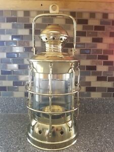 Vintage Like Masthead Brass Ship Lantern Candle Oil Lamp