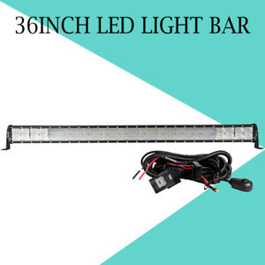 36 Inch 2496w 4 Row Led Light Bar Combo Truck Offroad For Jeep Ford Pk 32 38 42