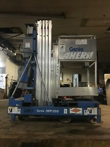 2006 Genie Iwp20s Man Lift 20 Deck Hgt 26 Work Hgt 12 Volt Push Around