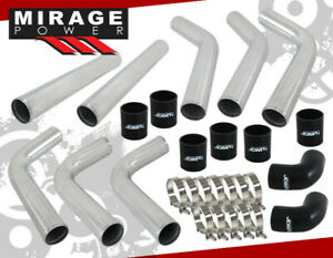 2 5 D I Y Aluminum Turbo Supercharge Intercooler Piping Pipe Upgrade Kit Ch Blk