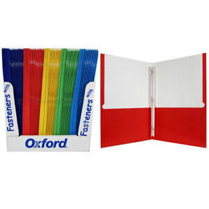 8 5 x11 Lot Of Oxford Twin Pocket Folders With Fasteners Bulk Case Pack 100