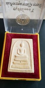 Wat Rakang Thailand Buddhist Amulet In Temple Box Temple Stamp On Reverse Side