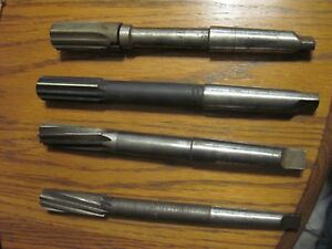 4 Vintage Usa Made Metal Reamers From Gunsmith Shop 7 8 15 16 1 1 1 8 Inch