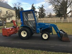 New Holland Tc29d Diesel Tractor 29hp 4x4 Hydro Cab Loader 3pt Snow Blower