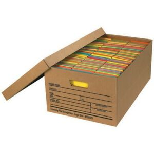Legal Size Economy File Storage Boxes With Lids box Of 12