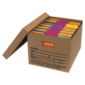 Letter legal Economy File Storage Boxes With Lids box Of 12