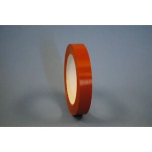 1 2 X 60 Yd Orange Low tack Strapping Tape case Of 144 Rolls