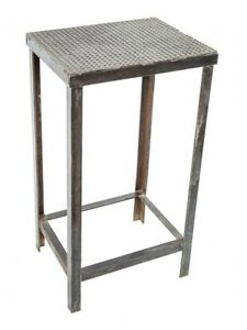 Industrial Machine Shop Work Table Or Stand With Distinctive Textured Top