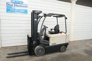 2012 Crown Fc4500 6 000 Electric Forklift 48 Volt Battery 3 Stage 4 Way